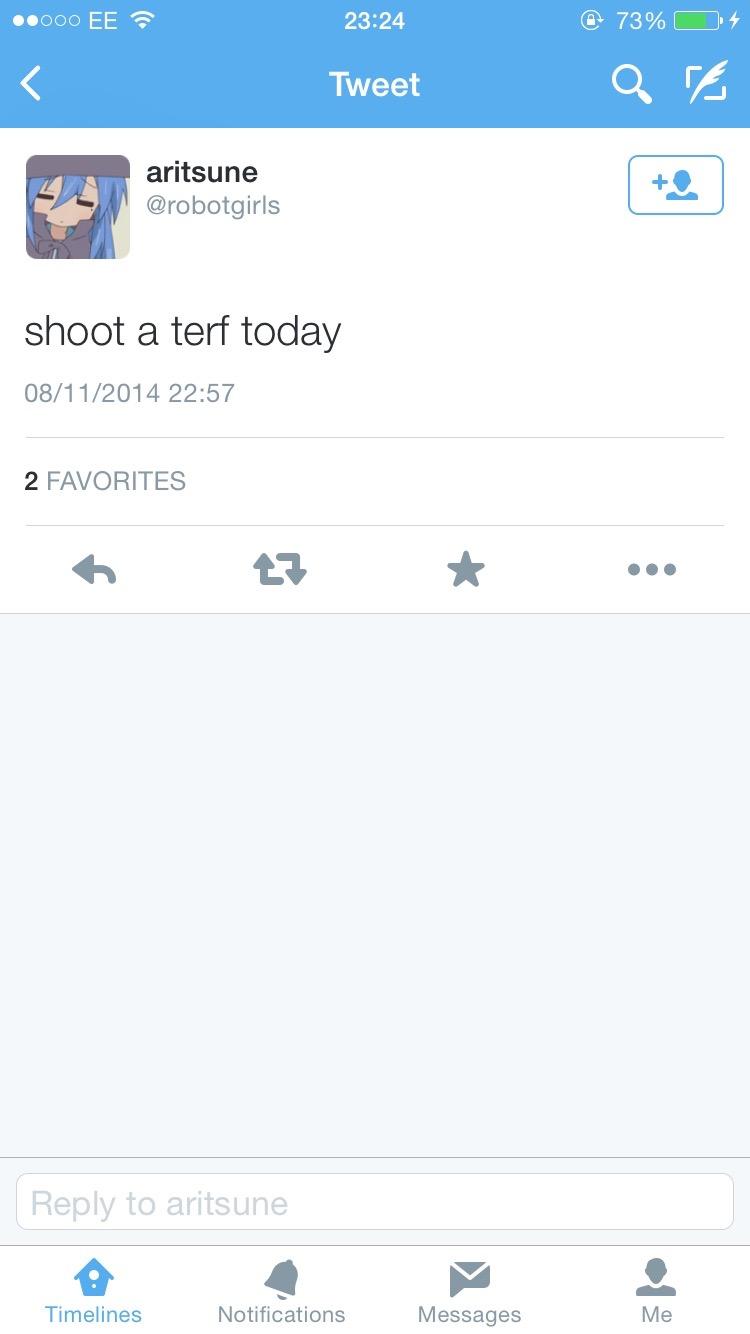 Shoot a terf