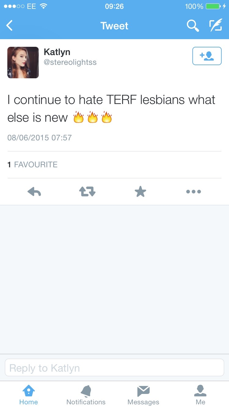 Hate TERF lesbians