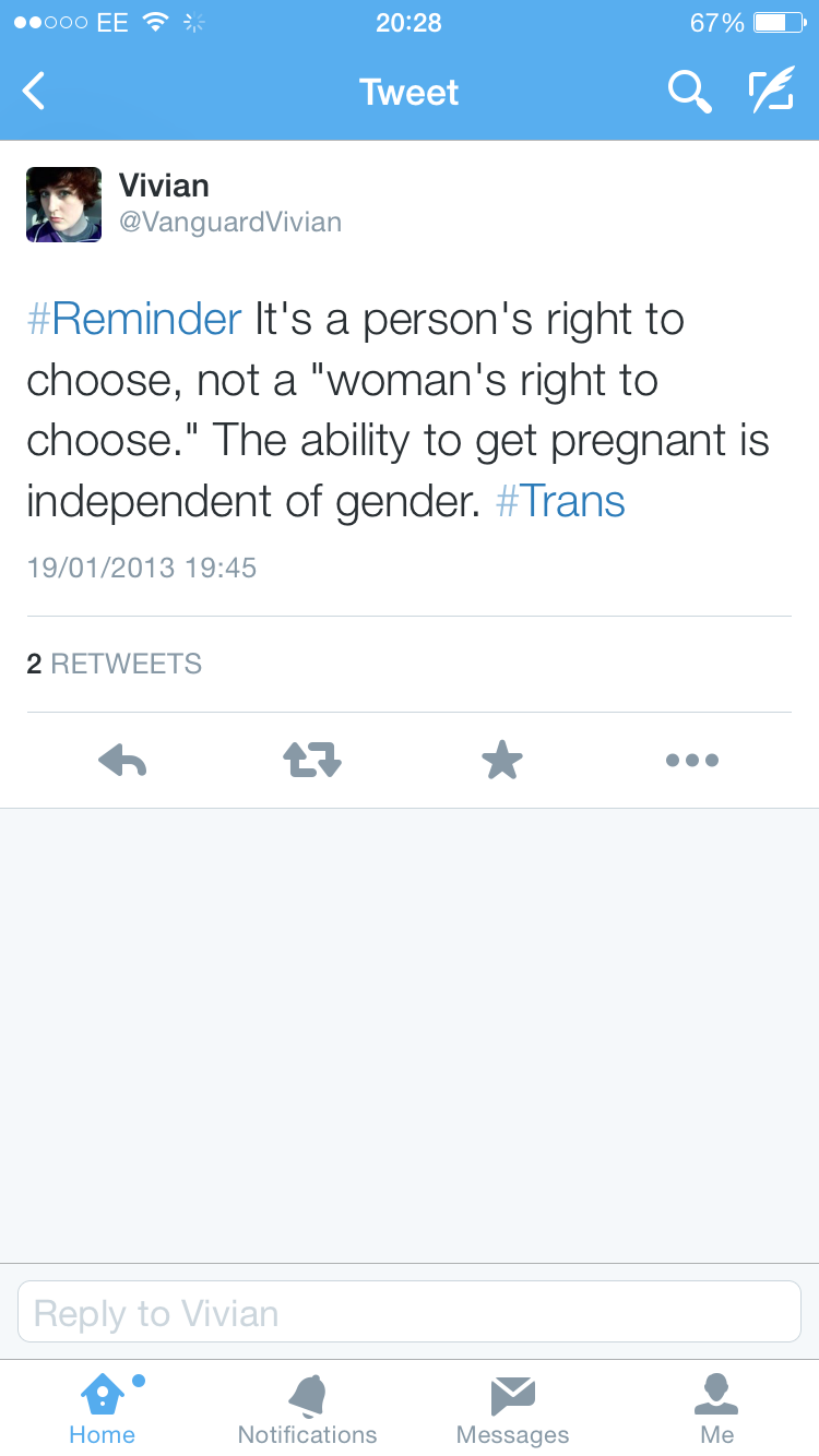 """Not a """"woman's right to choose"""""""