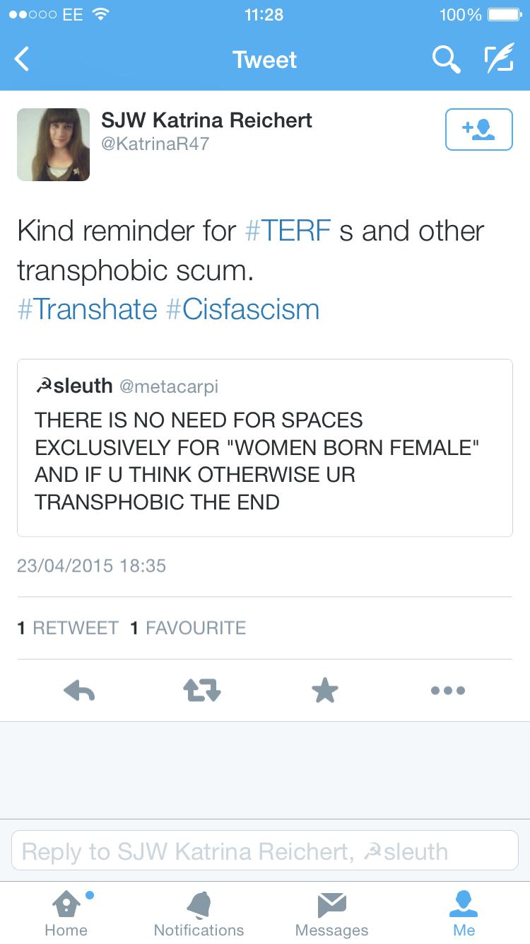 Transphobic scum