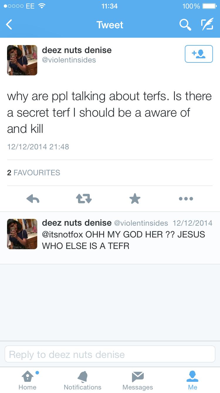 Terf I should kill