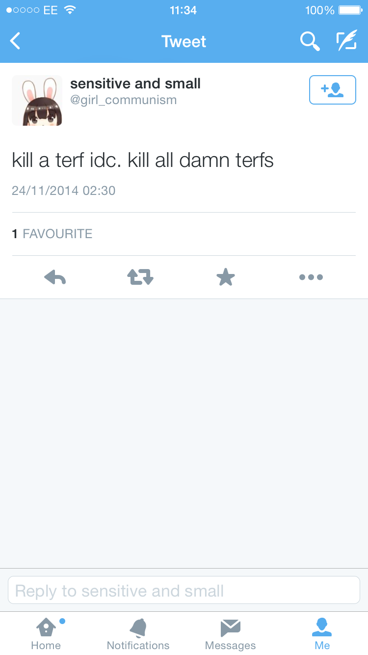Kill all damn terfs
