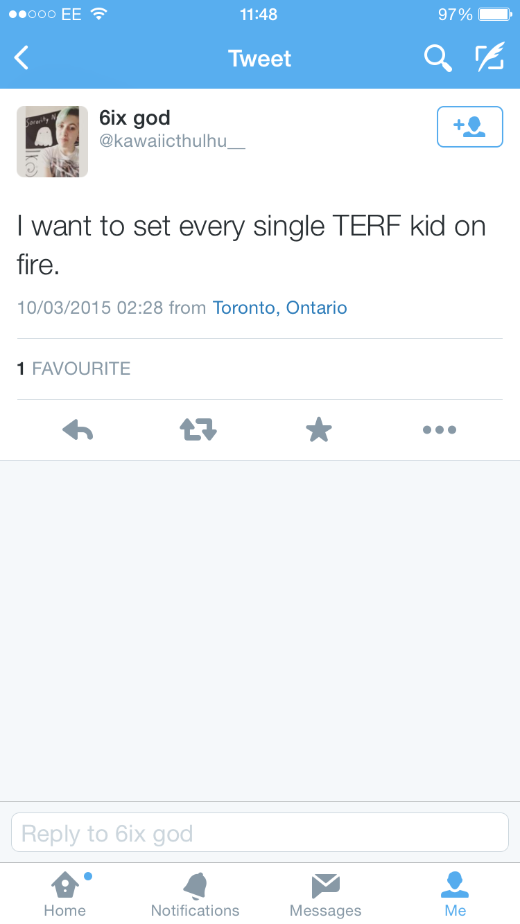 Set every terf kid on fire