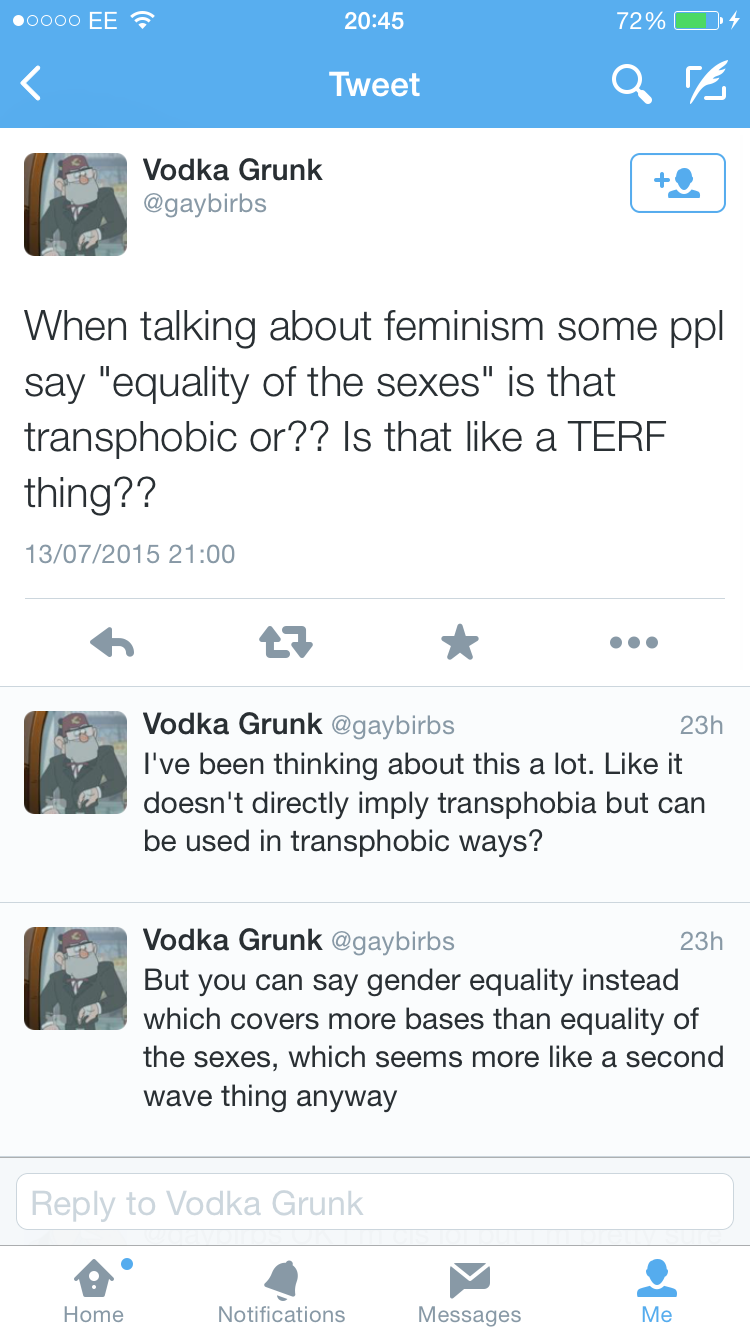Is that transphobic or??
