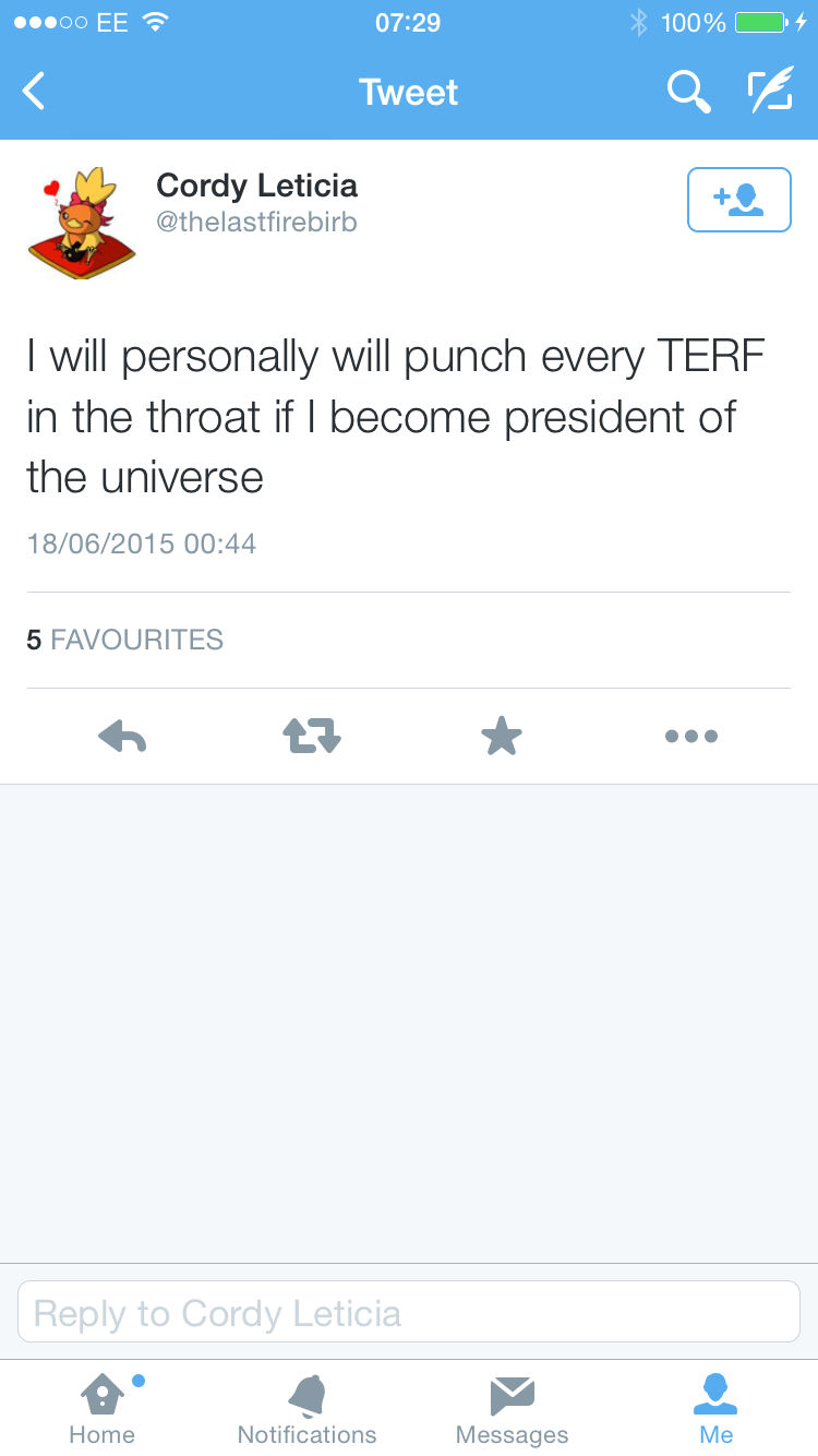 Punch every terf in the throat