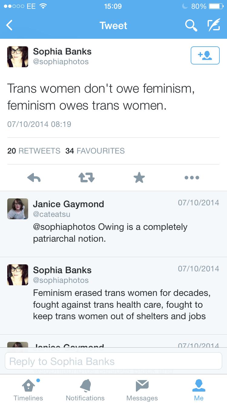 Owes trans women