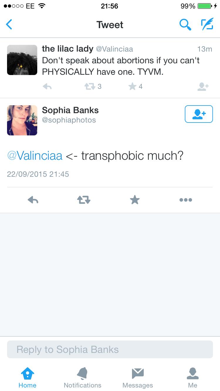 Transphobic much?