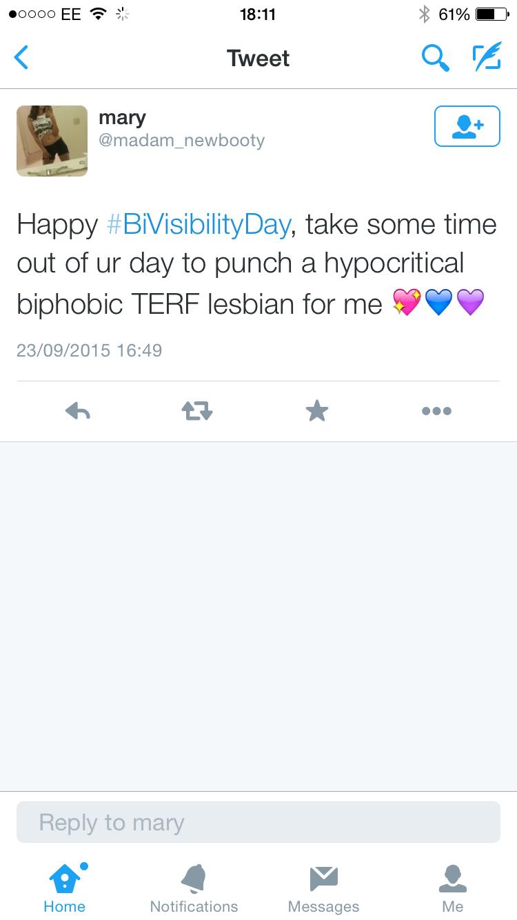 Punch a terf lesbian