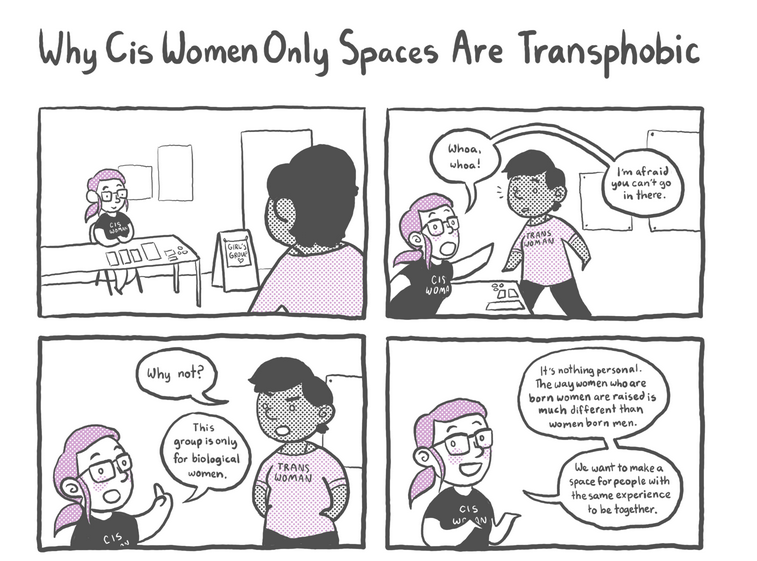 http://everydayfeminism.com/2015/03/cis-women-only-spaces-wrong/