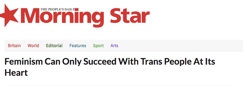 http://morningstaronline.co.uk/a-f0b5-Feminism-can-only-succeed-with-trans-people-at-its-heart#.VYNIdBNViko