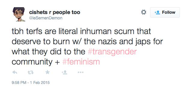 Literal inhuman scum