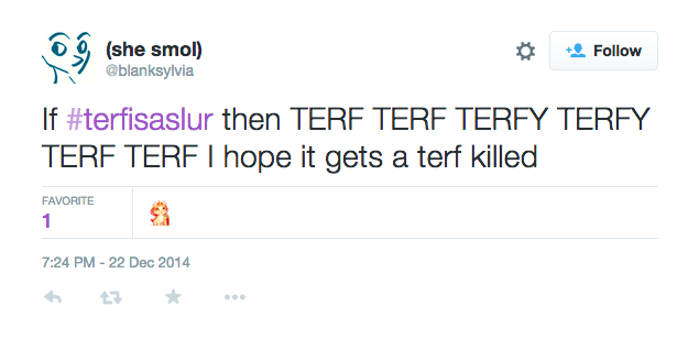 Gets a terf killed